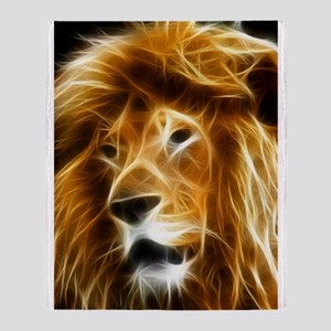 Abstract Lion Throw Blanket