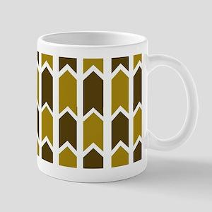 Shaded Green Checkered Rivets Mugs