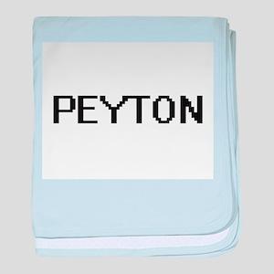 Peyton Digital Name Design baby blanket