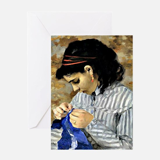 Renoir - Lise Sewing Greeting Card