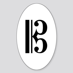 C Clef Oval Sticker
