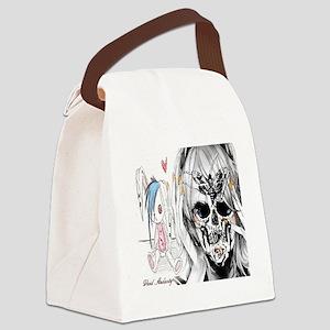 EMO SKULL LADY Canvas Lunch Bag
