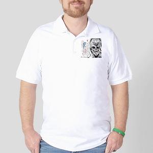 EMO SKULL LADY Golf Shirt