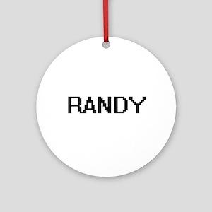 Randy Digital Name Design Ornament (Round)
