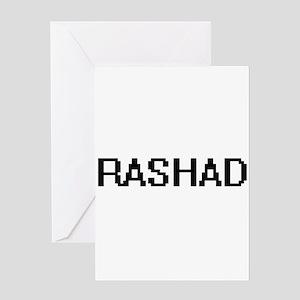Rashad Digital Name Design Greeting Cards