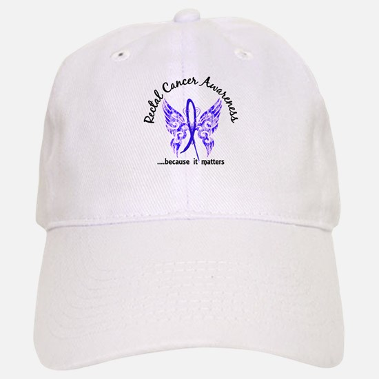 Rectal Cancer Butterfly 6.1 Baseball Baseball Cap