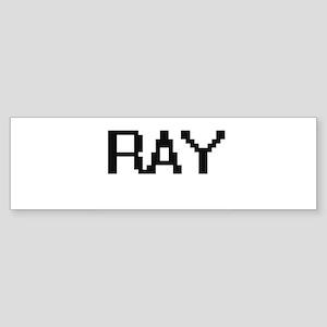 Ray Digital Name Design Bumper Sticker