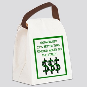 archaeology Canvas Lunch Bag
