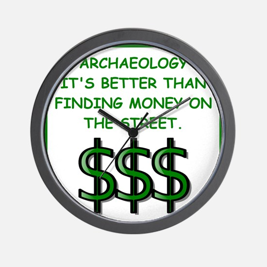 archaeology Wall Clock