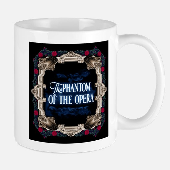 Phantom of the Opera Lettering with Red Rose Frame