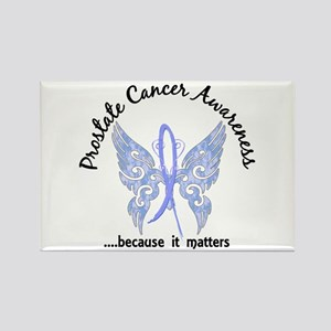 Prostate Cancer Butterfly 6.1 Rectangle Magnet