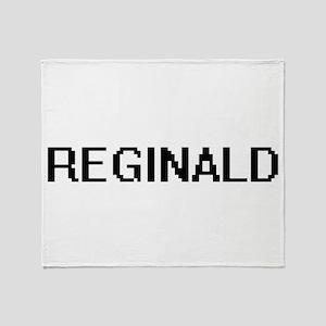 Reginald Digital Name Design Throw Blanket