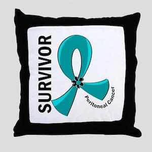 Peritoneal Cancer Survivor 12 Throw Pillow