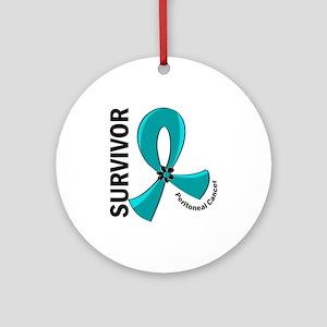 Peritoneal Cancer Survivor 12 Ornament (Round)