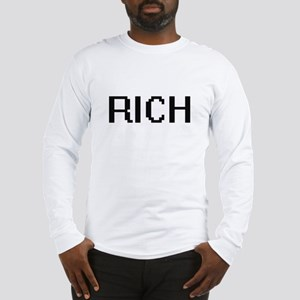 Rich Digital Name Design Long Sleeve T-Shirt