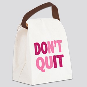 Don't Quit - Do It Canvas Lunch Bag