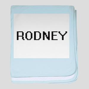 Rodney Digital Name Design baby blanket