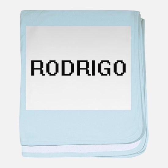 Rodrigo Digital Name Design baby blanket
