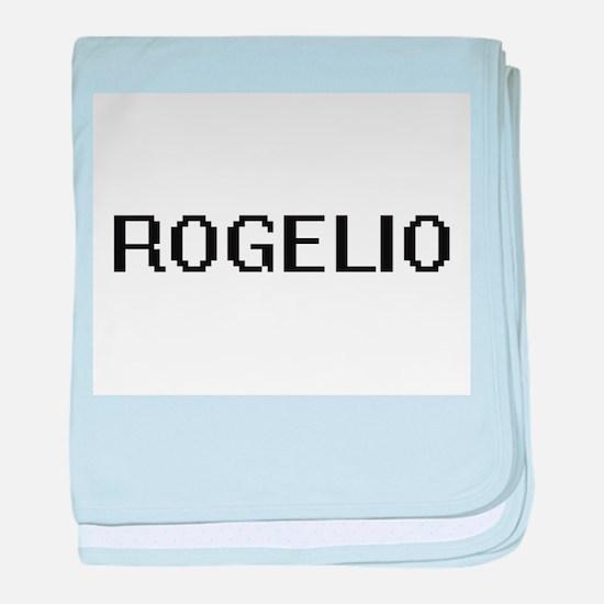 Rogelio Digital Name Design baby blanket