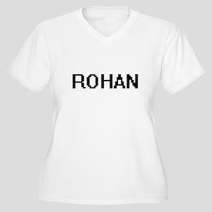 Rohan Digital Name Design Plus Size T-Shirt