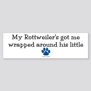 Wrapped Around His Paw (Rottweiler) Sticker (Bumpe