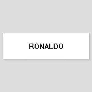 Ronaldo Digital Name Design Bumper Sticker