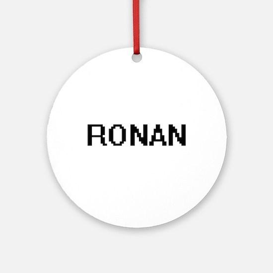 Ronan Digital Name Design Ornament (Round)