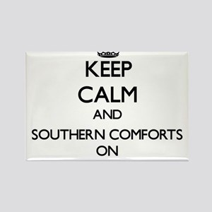 Keep Calm and Southern Comforts ON Magnets