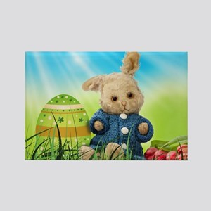 Spring Bunny in Blue Sweater Magnets