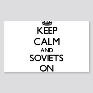 Keep Calm and Soviets ON Sticker