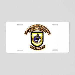 Flash - 1st Brigade - 101st Aluminum License Plate
