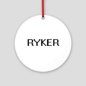 Ryker Digital Name Design Ornament (Round)