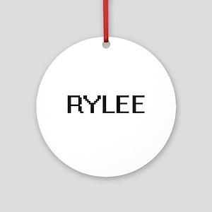 Rylee Digital Name Design Ornament (Round)