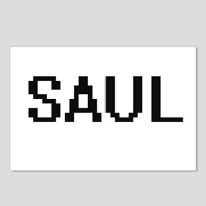 Saul Digital Name Design Postcards (Package of 8)