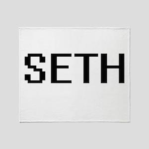Seth Digital Name Design Throw Blanket