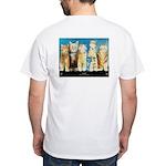 """Cat Wall"" White T-Shirt"