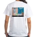 """Get Real"" White T-Sh T-Shirt"