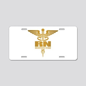Gold Caduceus (RN) Aluminum License Plate