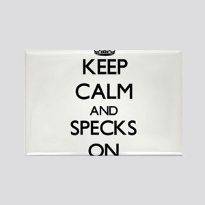 Keep Calm and Specks ON Magnets
