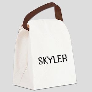 Skyler Digital Name Design Canvas Lunch Bag