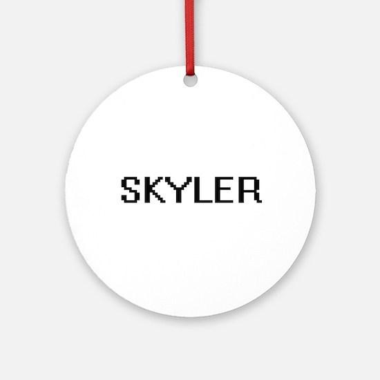 Skyler Digital Name Design Ornament (Round)