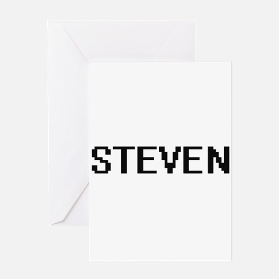 Steven Digital Name Design Greeting Cards