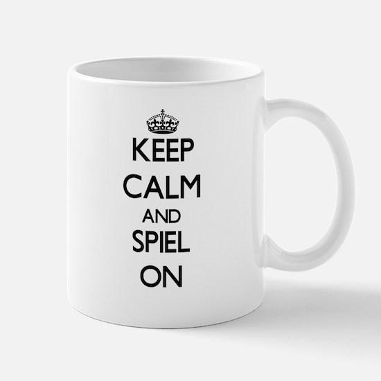 Keep Calm and Spiel ON Mugs