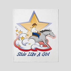 SlideLikeAGrl Throw Blanket