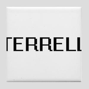 Terrell Digital Name Design Tile Coaster
