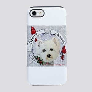 Winter Westie Christmas iPhone 7 Tough Case
