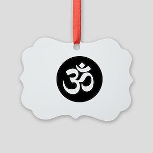 Om Symbol Circle Picture Ornament