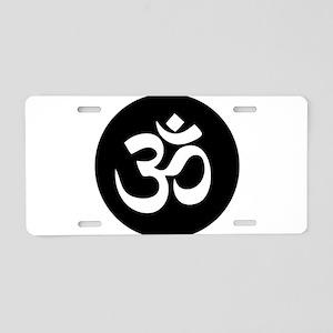 Om Symbol Circle Aluminum License Plate