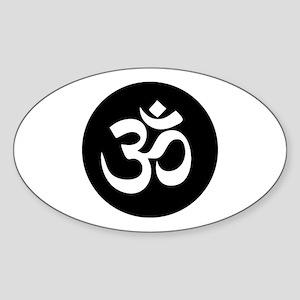 Om Symbol Circle Sticker