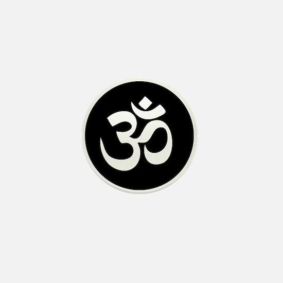 Om Symbol Circle Mini Button